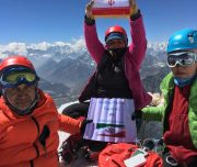 First Iranian group to attempt and success ascending on the top of Island Peak 2018 from Himalayan Adventure Sports.